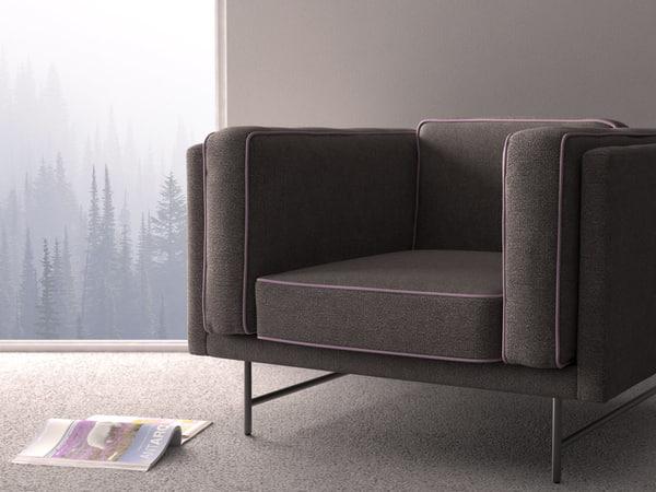 3D bank lounge