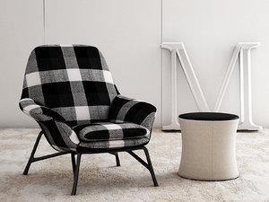 3D prince armchair model