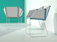 textile chair 3D model