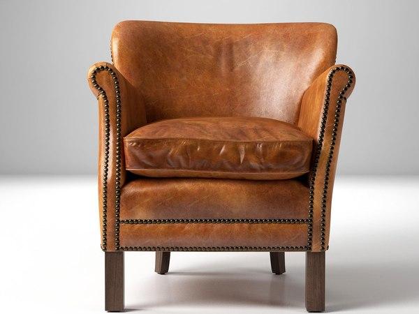 3D model professor s leather chair
