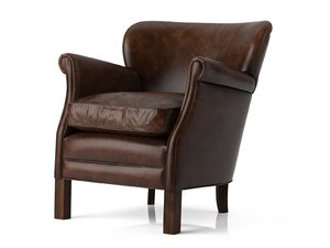 professor s leather chair 3D model