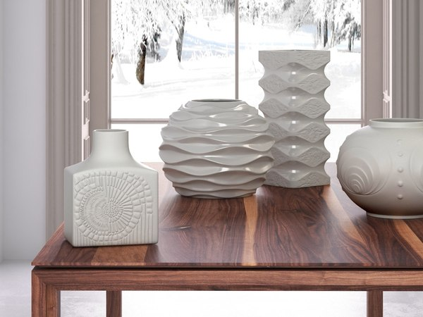 3D white ceramic set 01