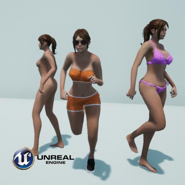 3D model unreal 4 female