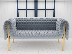 ruché loveseat 3D model