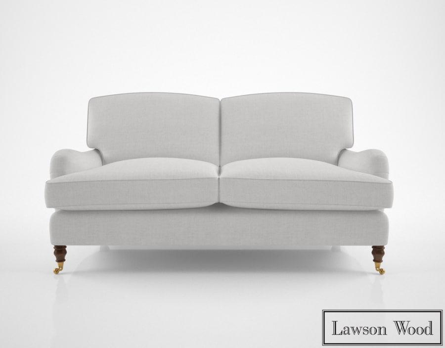 3D lawson wood baring sofa model