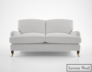 3D lawson wood baring sofa model