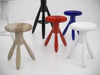 3D model baby rocket stool