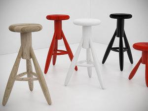rocket stool 3D model