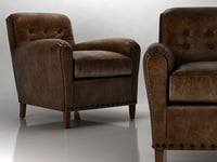 Hyde Leather Club Chair