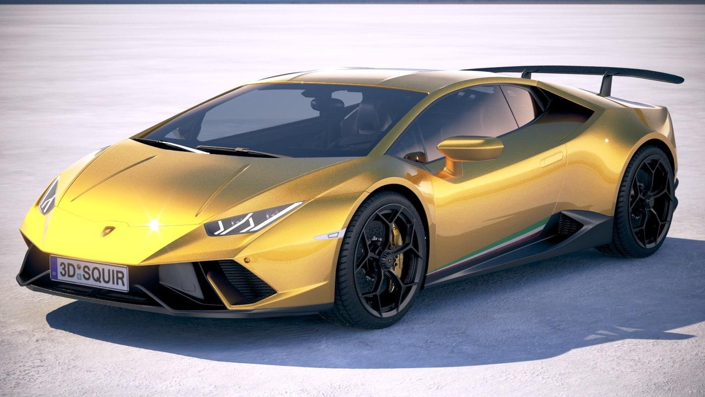 3d Lamborghini Hurcan Performante Turbosquid 1175388