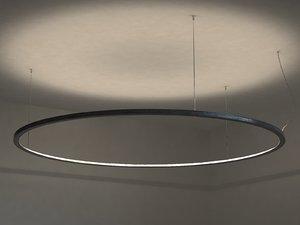 3D model framed circle
