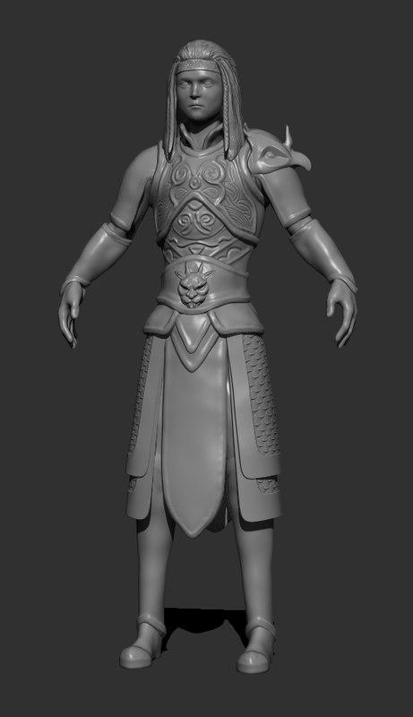 soldier warrior 3D model