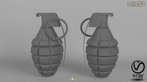 mk2 grenade 3D model