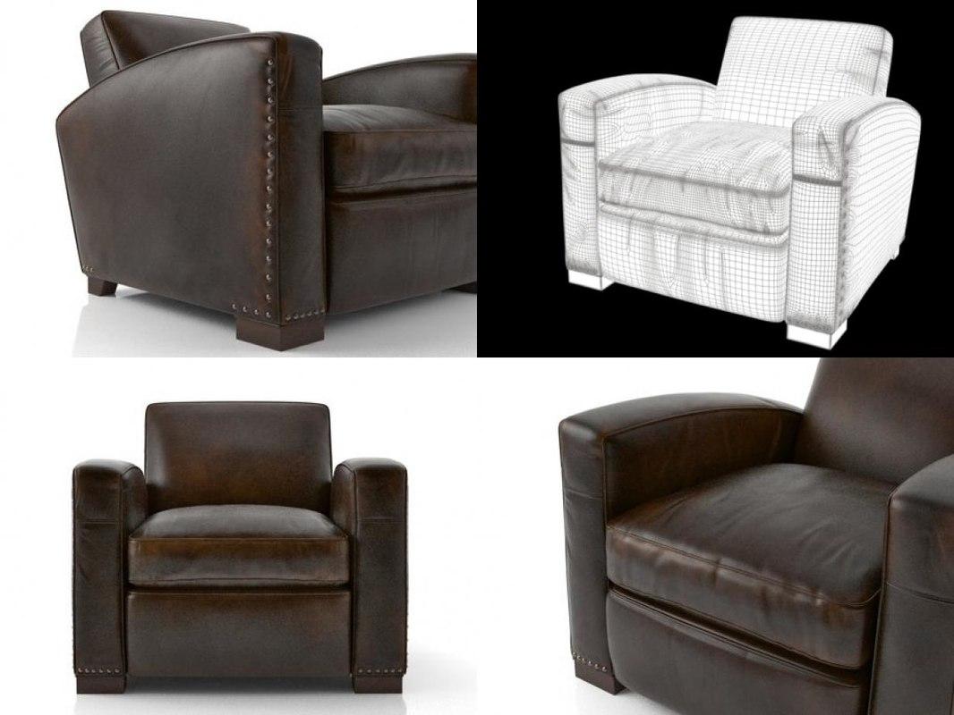 3D Library Leather Chair; 3D Library Leather Chair ...
