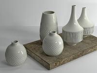 3D model ceramic set 01