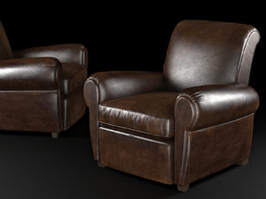 3D parisian leather recliner