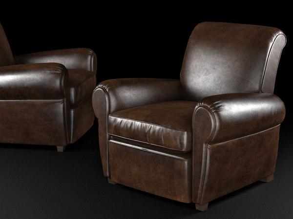 3D parisian leather recliner