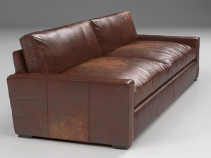 3D 10 maxwell leather sofa model