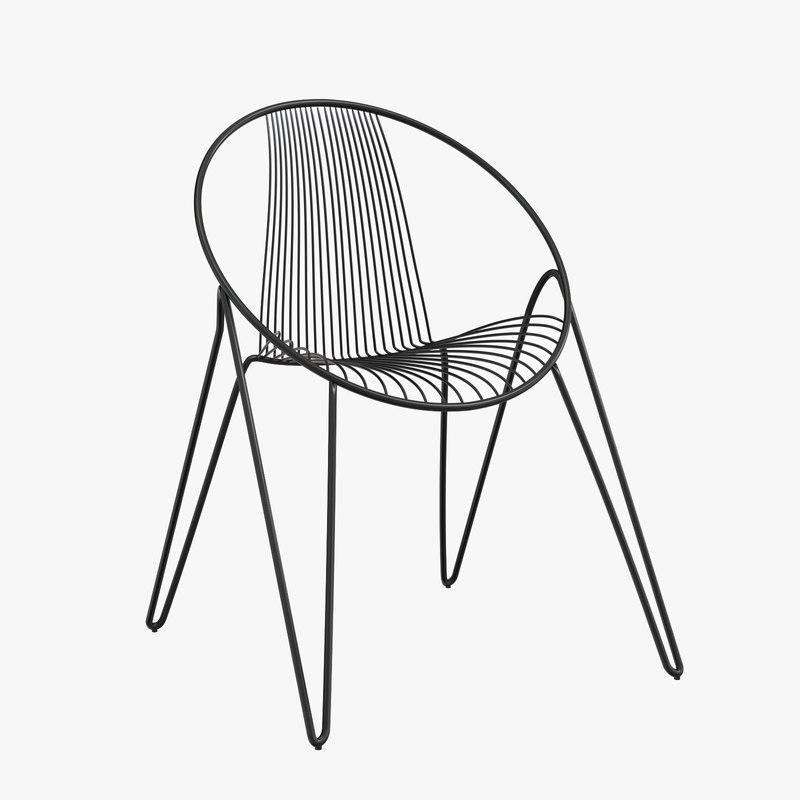 3D madame o chair design model