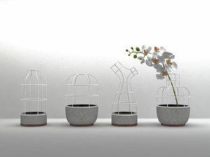 v4 vases 3D model