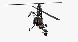 gyrocopter 3D model