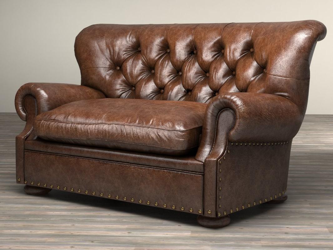 5 Churchill Leather Sofa