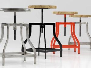 3D machinist stool