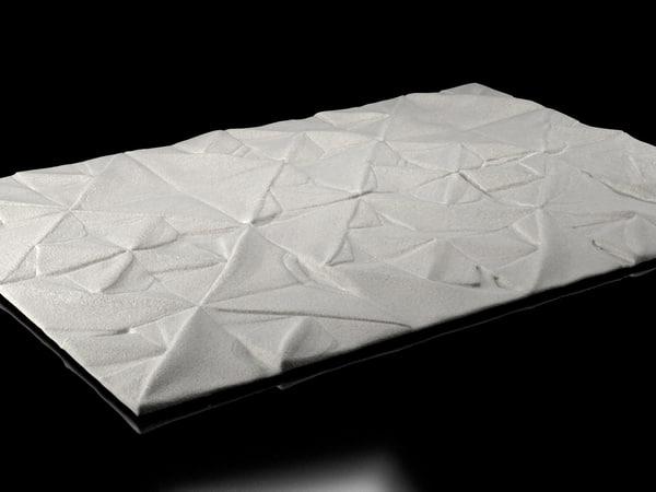 3D geo carved rug