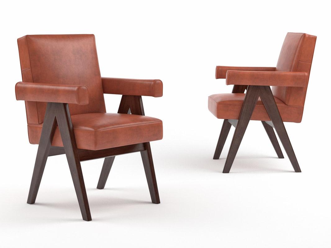 3D committee armchair model