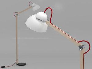 3D studioilse floor lamp