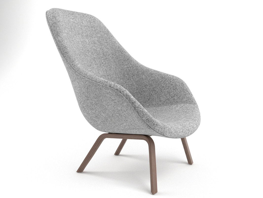 lounge chair aal93 3D model