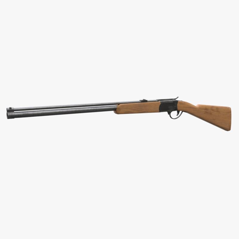3D low-poly shotgun rifle
