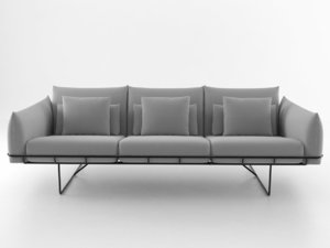 3D wireframe sofa 3 seat