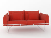 wireframe sofa 2 seat 3D