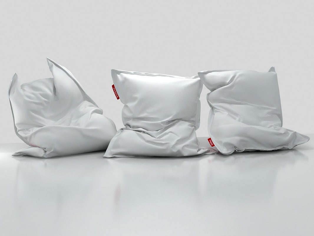 3D beanbags set model