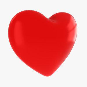3D valentine s love heart model