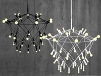 3D orbit chandelier