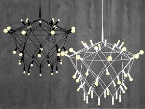3D orbit chandelier