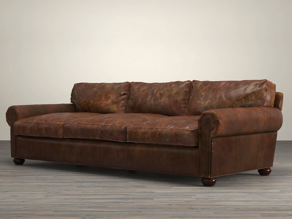 3D 96 lancaster leather sofa model