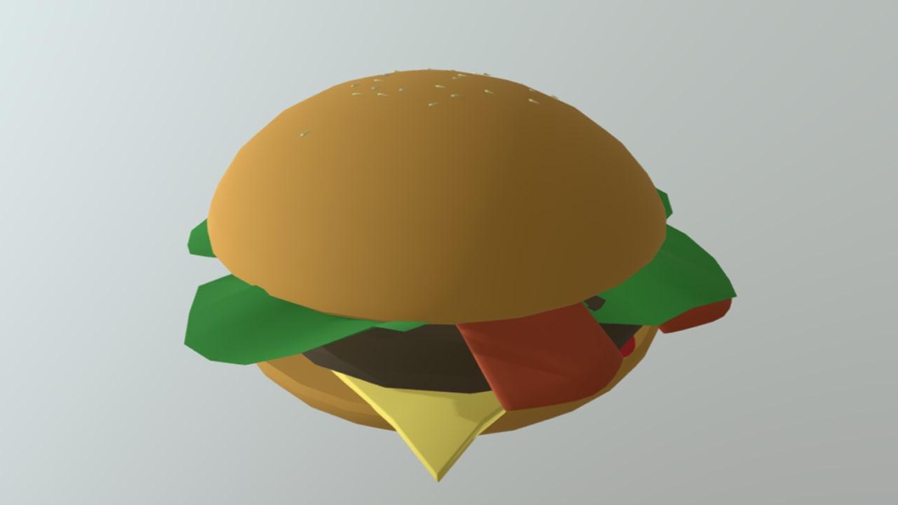 3D model hamburguer burguer