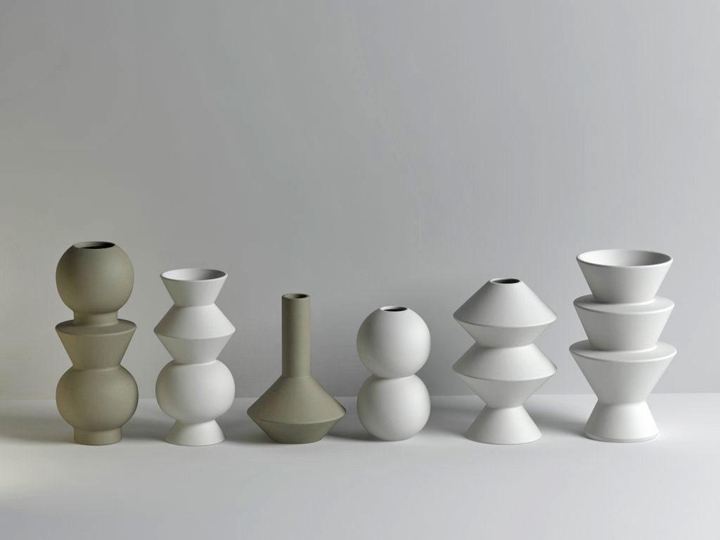 geometric vases 3D model