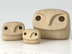 3D howdy owl model