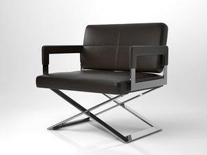 aster x armchair 3D model
