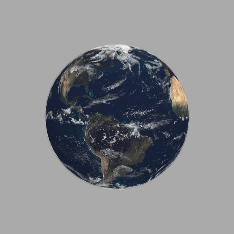 simple planet earth 3D model