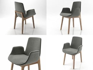 ventura armchair w2 3D model