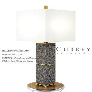 beauchamp table lamp 3D