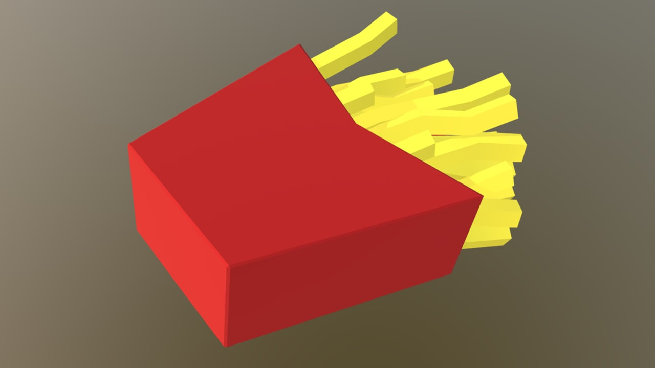 potatoe bag 3D model