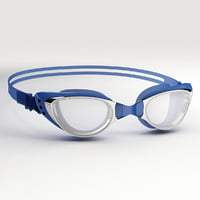 swim goggles blue 3D model