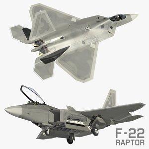 3D f22 raptor
