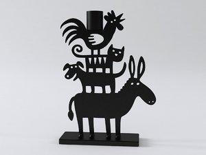donkey pyramid 3D model
